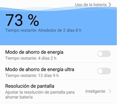 Cómo configurar los modos de ahorro de batería