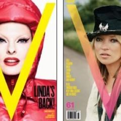 Foto 2 de 6 de la galería kate-moss-lady-gaga-linda-evangelista-y-amber-valletta-comparten-portada-en-v en Trendencias