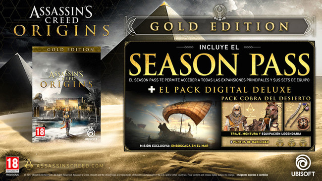 Assassin S Creed Origins Edicion Gold