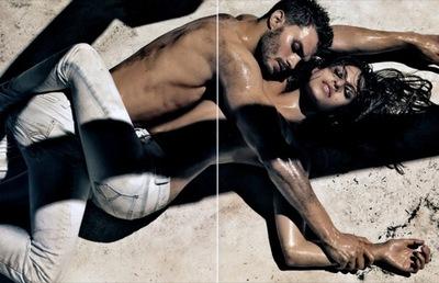 Jamie Dornan y Eva Mendes en la nueva campaña de Calvin Klein: el placer del cuerpo