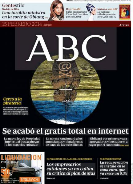 Portada de hoy de ABC