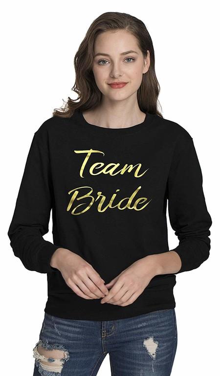 Sudadera Negra Team Bride