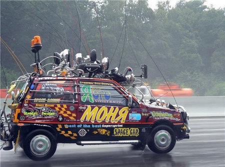 El coche más truñeado de la Historia está en Rusia