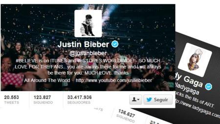 Lady Gaga ya no es quien más seguidores tiene en Twitter: ahora es Justin Bieber