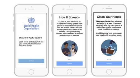 La Organización Mundial de la Salud prepara una app oficial para iOS y Android con consejos e información sobre el COVID-19