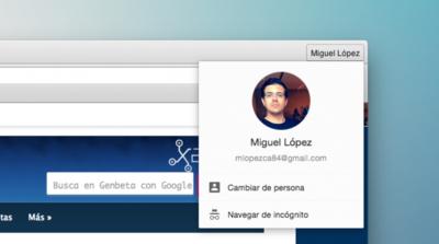 Cómo recuperar el icono de usuario en Chrome