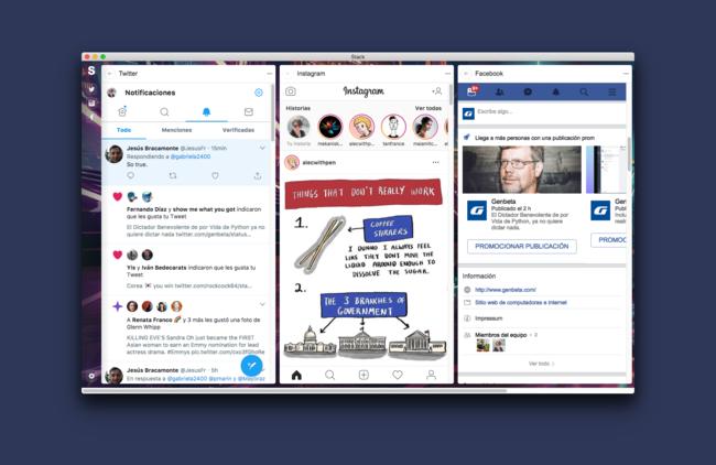 Stack es como un Tweetdeck para todas tus redes sociales, una app que envidiarle a los usuarios de macOS