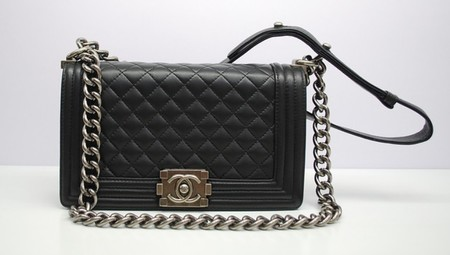 Chanel Black Boy Chanel Quilted Medium Bag