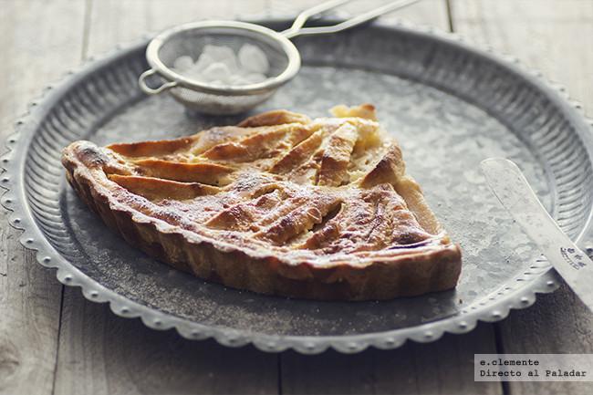 Tarta normanda de manzana. Receta