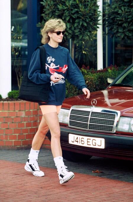 Princesa Diana Despues Del Gimnasio En Londres 1995