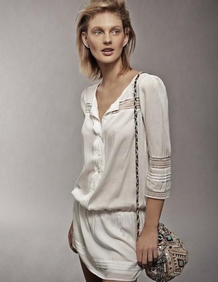 0b98a1091d Tendencias low-cost Primavera-Verano 2014  un vestido blanco para resaltar  tu bronceado
