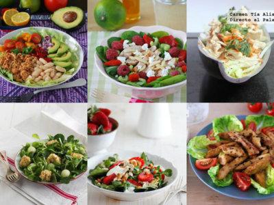 Recetas para toda la familia: ensaladas de pollo, tartaletas de cereza y más