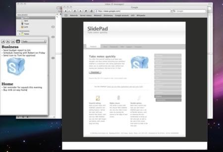 Slide Pad, anotaciones rápidas en el lateral de la pantalla