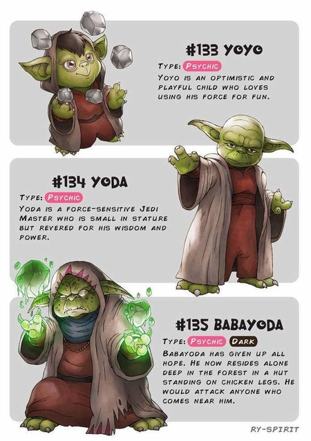 Pokemon Star Wars Yoda