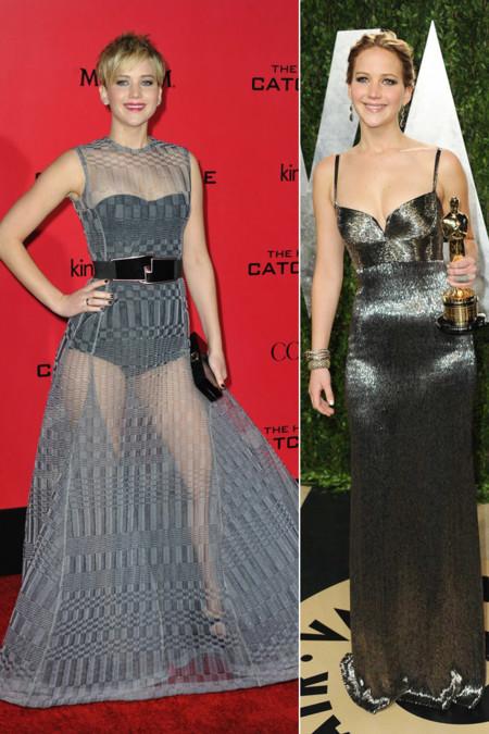 Jennifer Lawrence peor vestidas 2013