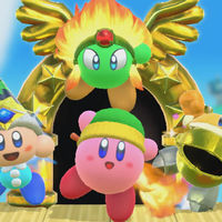 Encanto y diversión por partida cuádruple en el tráiler de lanzamiento de Kirby Star Allies