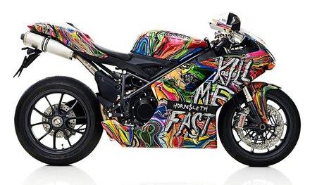 Hornsleth, Ducati Art llevado al extremo sobre la Ducati 1198
