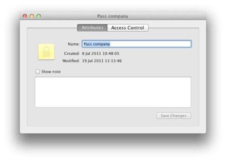 Creando notas seguras en OS X Lion