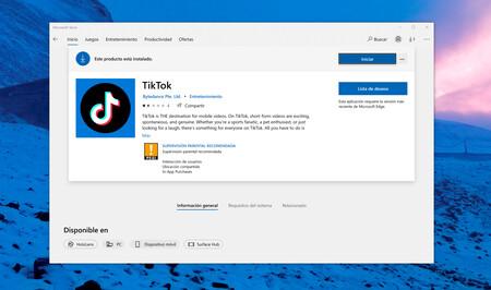 TikTok estrena aplicación para Windows 10 en la Microsoft Store