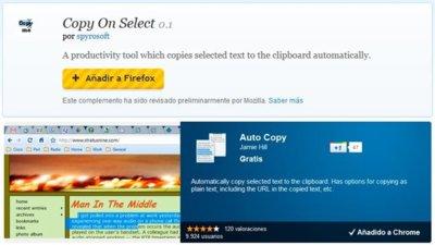Copiar texto más rápido que nunca en Firefox y Chrome