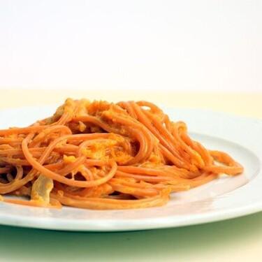 Espaguetis con salsa de calabaza, receta