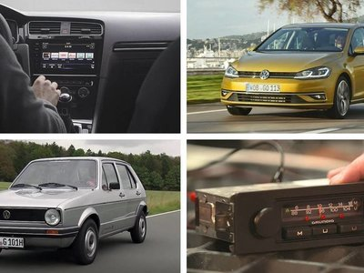Dos ruedas y tres botones: así era la radio del Golf de primera generación, así es la actual