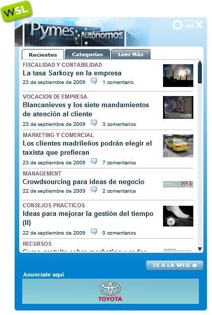 Pymes y Autónomos y todo Weblogs SL en tu escritorio