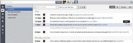 Hootsuite ha incorporado una nueva vista de mensajes programados