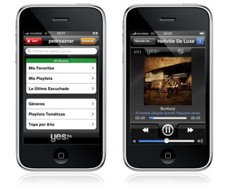 yes.fm para iPhone