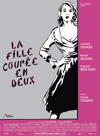 Póster y trailer de 'La fille coupée en deux' de Claude Chabrol