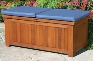 B ul sill n para el patio en madera - Baul almacenaje ikea ...