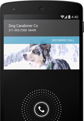 Android 4.4 KitKat marcador de llamadas