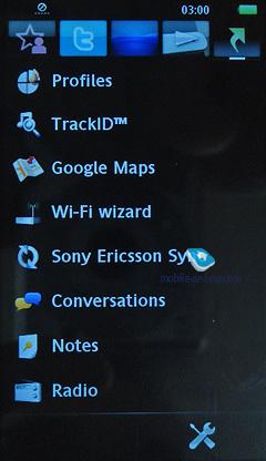 Sony Ericsson Kurara, software