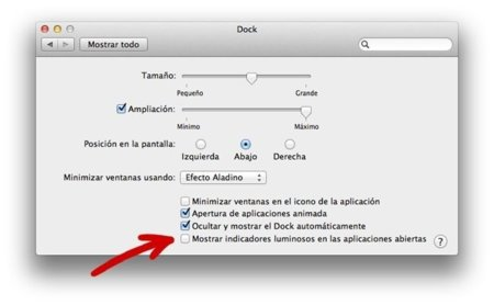 apple mac os x lion preferencias dock