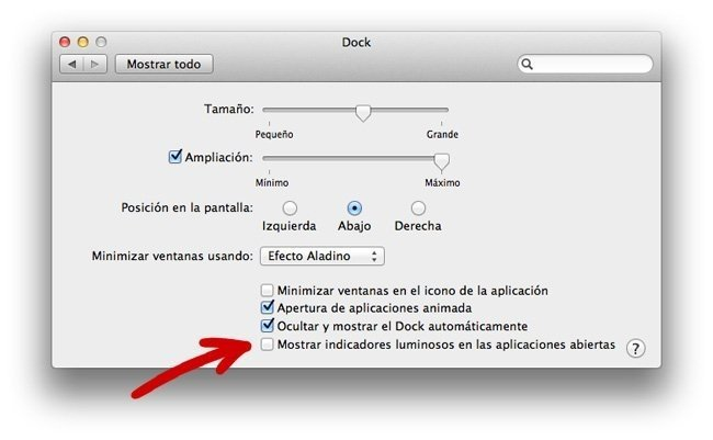apple mac os x lion preferencias dock