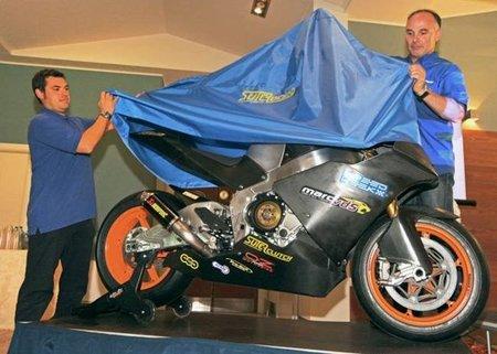 Presentación de la Suter de MotoGP para el 2012 con Carmelo Morales como piloto
