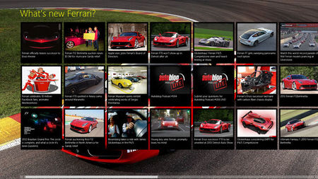 RSSW Ferrari para Windows 8