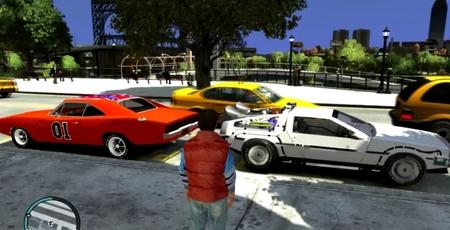Regresar al Futuro es posible con este mod para 'Grand Theft Auto IV' con Marty McFly y su DeLorean muy bien recreados