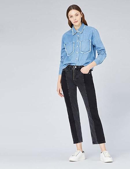 Marca Amazon - find. Camisa Vaquera Mujer