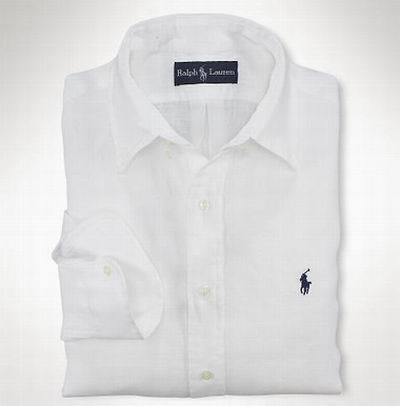 Camisa blanca de lino c8578b9918313