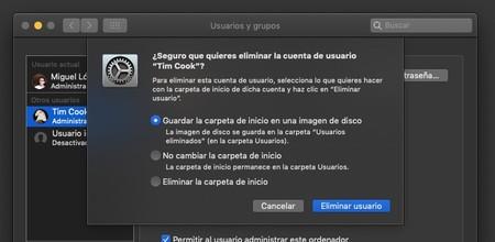 Borrar Cuenta Usuario Mac