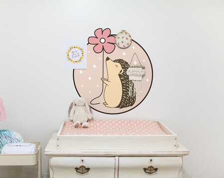 Tenvinilo Vinilo Decorativo Porcupine Con Flor Desde 7 99eur A20442