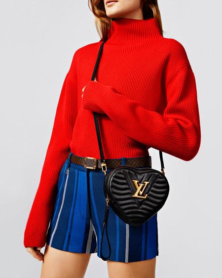 Lv New Wave Heart Bag Black