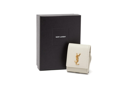 Saint Laurent Ysl Airpod Case Logo Leather Accessory 4