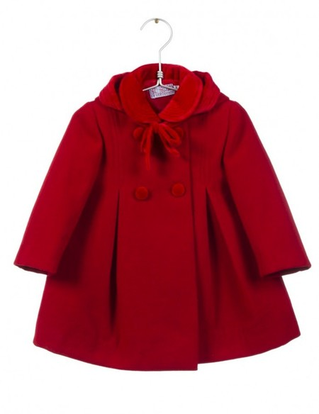 Abrigo Rojo Rebajas Bebé Niña