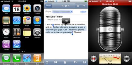 Primeros comentarios y capturas de pantalla del iPhone OS 3.0