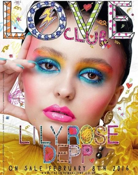 Lily-Rose Depp en la portada de Love con un maquillaje baby doll ¿una manera de infantilizar la moda?