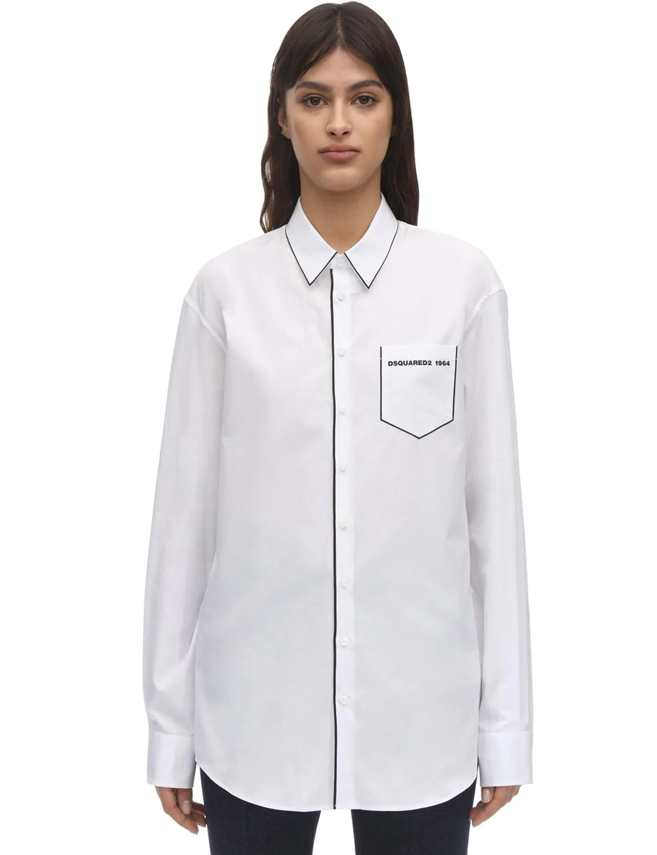 Camisa con diseño pijamero de Dsquared2
