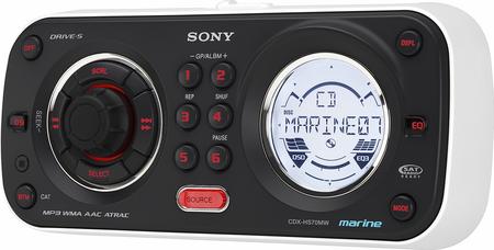 CDX-HS70MW de Sony, para el mar