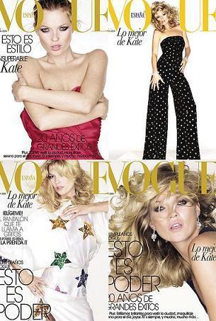 Vogue España: 20 años y 4 Kate Moss